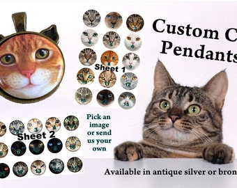 Cat Necklace Pendant Personalized Custom Pet Loss Memorial Cat Lovers Gift  Permission by Jeff Haynie