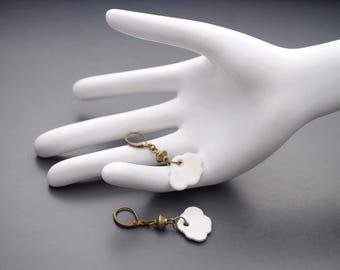 Cloud ceramic earrings