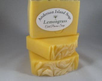 LEMONGRASS Cold Process Soap made by Anderson Island Soap.