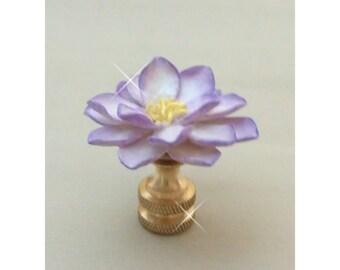 Two Tone Lotus Lamp Finial