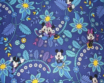 Mickey Dreaming Fabric Remnant