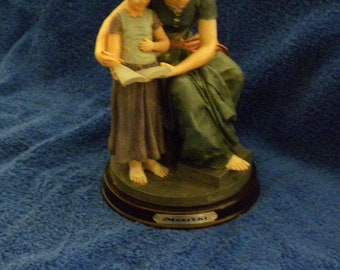 Meerchi Figurine-Mom Reading to Daughter