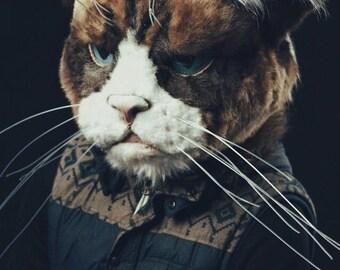 Grumpy cat helmet by Maskcraft