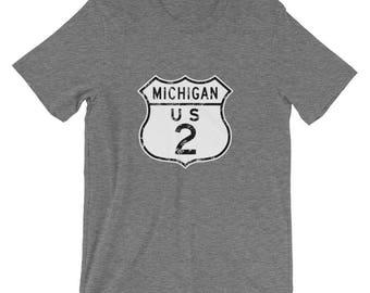 Michigan US2 Upper Peninsula Highway T-Shirt