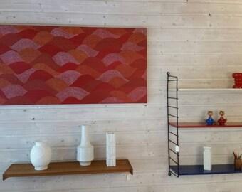 "Original Painting ""Waves III"" Krapplack Rot"
