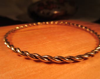 Tribal Brass Bangle Bracelet