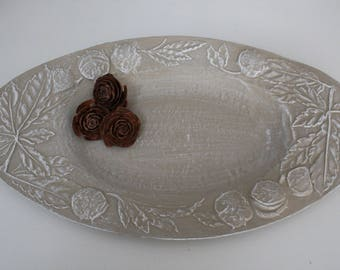 Updated day by a linen patina serving dish