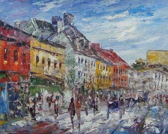 MAIN STREET, Colourful downtown St. John's , Newfoundland -Pen King-A1022