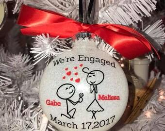 Engagement Glitter ornament