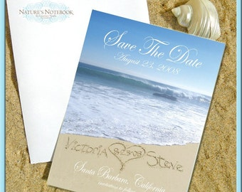 Beach Wedding Save the Date - Personalized with your names written in the REAL beach sand 90 pcs