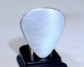 Guitar Pick Handmade from Aluminum to be Your Very Own Blank Canvas - GP959