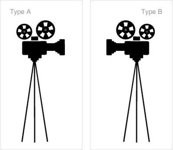 Movie Projectors Decal,  Home Theater Vinyl, Family Room Decor, Home wall decal