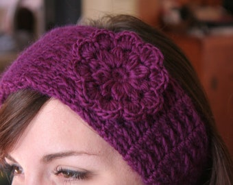 Crochet Pattern HEADBAND Women Hat PDF Pretty Flower The CRISTINA