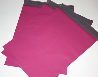 20  14x17 Poly Mailers Raspberry Pink Self Sealing Envelopes Shipping Bags Spring Easter