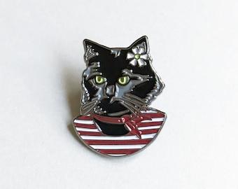 Enamel Pin - Black Cat Lady - Ryan Berkley Illustration - Pin