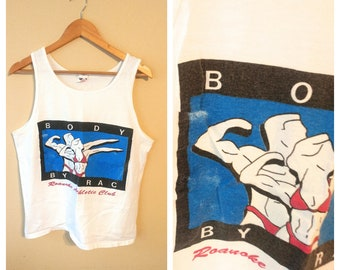 Tank top vintage size Medium Body by Rac Roanoke Athletic Club athletic 1980s