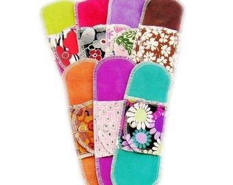7 Organic Pantyliners Moonpads Cotton Reusable Washable Cloth Menstrual Pads
