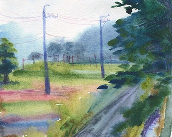 Professional watercolor print, A4, unframed. Painted in Gifu, Japan.