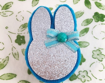 Bunny Clip, Easter Bunny Clip, Baby's First Easter Hair Clip, Hair Clips Baby, Hair Clips for Girls, Baby Gifts for Girls, Bunny Hair Clips