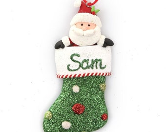 Personalised Santa Stocking Decoration