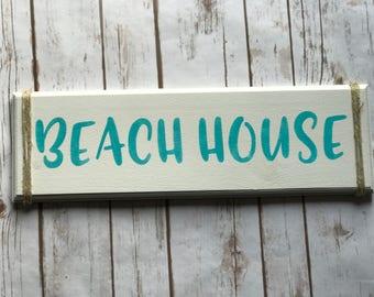 Beach House sign, wooden sign, beach decor, life is better, beach house, beach decor, lake house decor, tiki bar sign, beach lover, sign