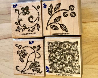 Stampin Up Stippled Stencils Gently Used Retired Rubber Stamps