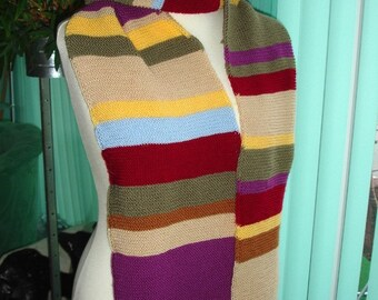 Dr Who inspired long scarf -ready to ship