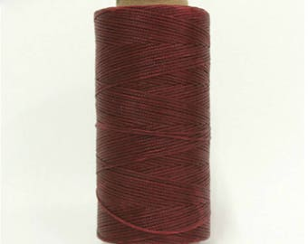 1mm Waxed Polyester Cord 160m Burgundy