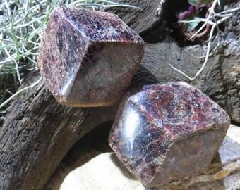 Garnet Crystals, Pyrope Garnets, Polished One Face - Madagascar