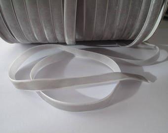 1 m 10 mm width gray velvet Ribbon