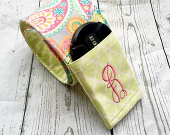 Personalized camer strap-Padded Camera Strap Cover-Camera Strap Cover with Lens Cap Pocket-Camera Strap-MULTICOLOR Paisley