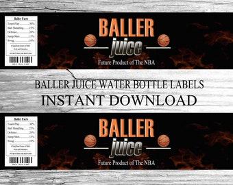2K Basketball Water Bottle Labels -INSTANT DOWNLOAD