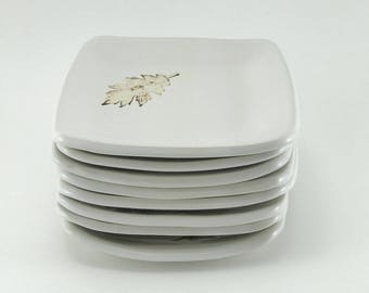 Ceramic plates, pottery plates, snack plates, appetizer plates, white pottery