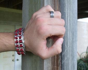 Men's Bracelet Rust FistiCuff Tab Top Cuff Modern Mod Men's Jewelry