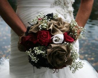 Rustic Burlap Bouquet