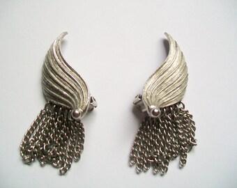 Vintage Angel Wing Clip-On Earrings