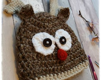 Rudolph hat - Rudolph baby hat - 6-12 month hat - Christmas Hat - Rudolph - Reindeer hat - Crafts By Blossom