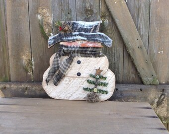 Primitive Snowman, Country Primitive, Wood Snowman, Primitive snowmen, snowmen, snowman, shelf sitter, winter decor, primitive wood snowman