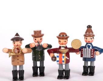 Vier Straßenmusikanten, Erzgebirge, Expertic, DDR, vintage,