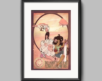 Stevonnie Lion Lars Art Nouveau inspired print