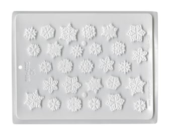 Snowflakes Assortment Hard Candy Mold - Baking and Candy Making Party Supplies