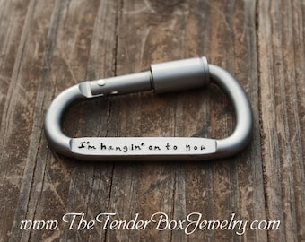 Personalized Carabiner Boyfriend gift Gift for Husband Fathers Gift groomsman gift Gift for him Wedding favors Groom gift Father's Day