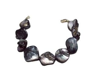 Mother of Pearl Bracelet, Pearl Bracelet, Black Jewelry, Shell Bracelet, Fashion Jewelry, Dressy Jewelry, Career Wear