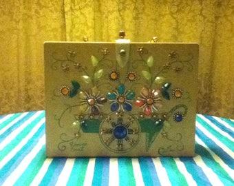 Vintage Enid Collins Flower Cart Box Bag Purse