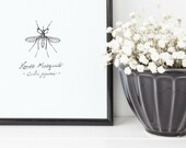 "Mosquito Print | 8"" ..."