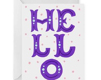 Hello A2 Greeting Card