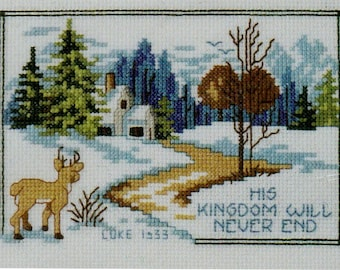Bucilla Counted Cross Stitch Kit, #84890, Peaceful Night by Sandy Garbrandt, Counted Cross Stitch, Christmas Decor, Home Decor, needle work