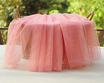 Fine Soft Tulle in a Beautiful Carmine Pink Color. Imported