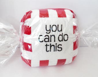 """Encourge""""Mint"""" Quilted Pillow   Peppermint Pillow   You Can Do This   Encouragement   Motivation   Inspiration   Support   Get Well   Cheer"""