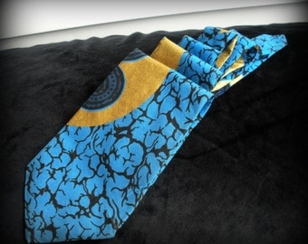 Gold, Blue and Black Alien Neck Tie